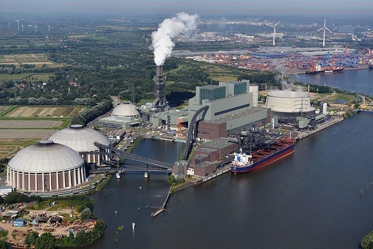 Elektrárna Moorburg (zdroj Vatenfall).