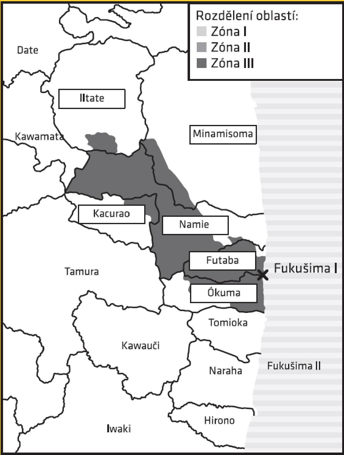 Po roce 2017 by měl zůstat omezený režim pouze u nejsilněji kontaminovaných území III. kategorie. I ta by však měla být otevřena do roku 2022. (Zdroj V. Wagner: Fukušima I poté).