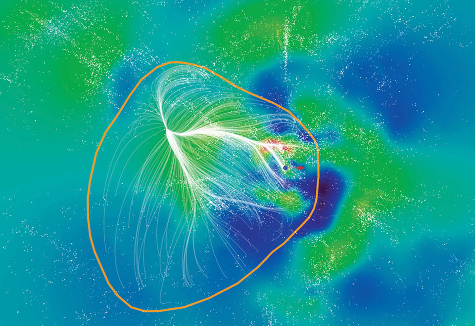 Laniakea. Kredit: NASA / R. Brent Tully (U. Hawaii) et al., SDvision, DP, CEA/Saclay.