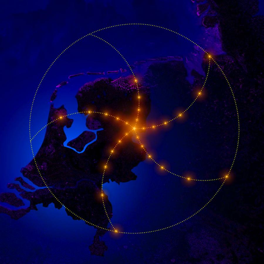 Oko do vesmíru. Logo sítě LOFAR. Kredit: ASTRON.