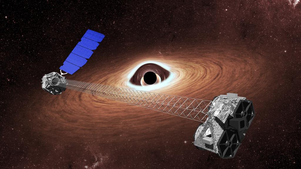 Rentgenová observatoř NuSTAR. Kredit: Caltech.