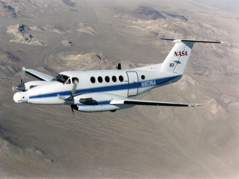 NASA B-200 King Air. Kredit: NASA.