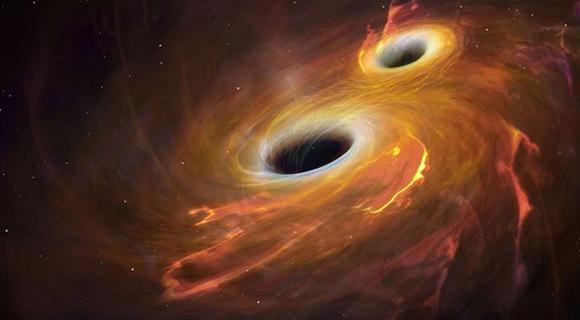 Co kdyby se střetla černá díra s červí dírou? Kredit: NASA.