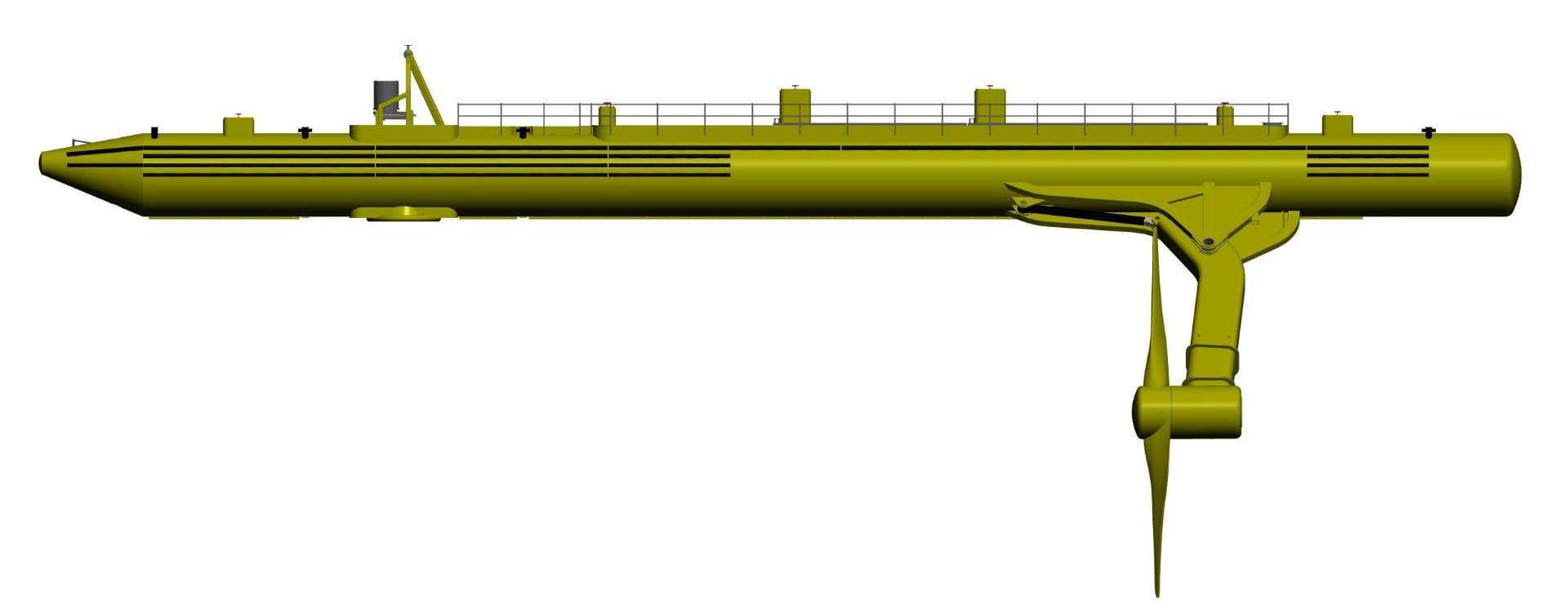 Konstrukce přílivové turbíny SR2000. Kredit: Scotrenewables.