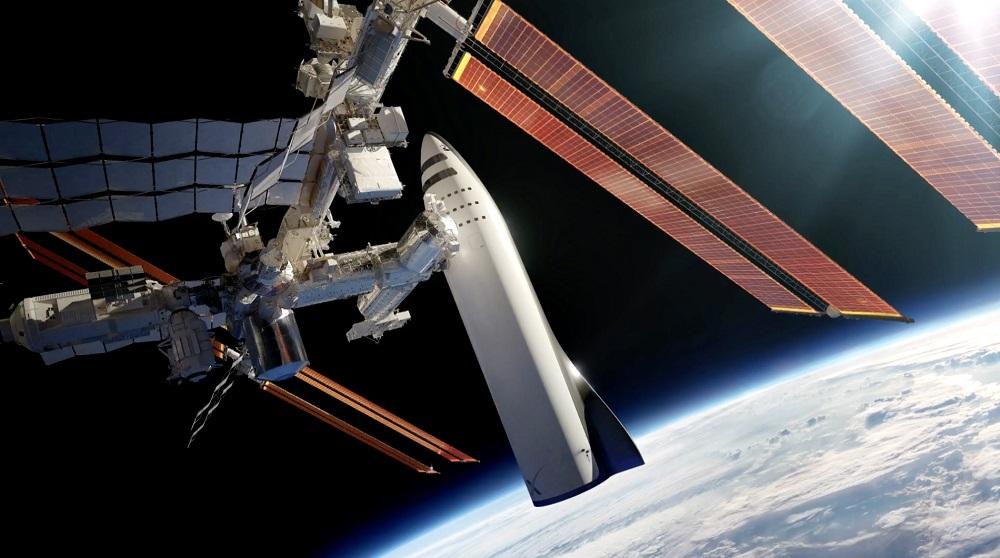 Dohoní mezihvězdného návštěvníka raketa BFR? Kredit: SpaceX.