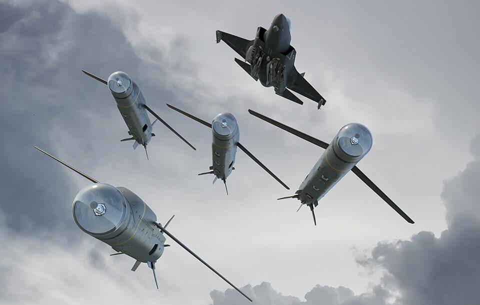 Letoun F-3 a střely Spear 3. Kredit: Dstl.