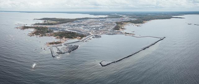 Staveniště bloku VVER1200 Hanhikvi 1 ve Finsku (zdroj Fennovoima).