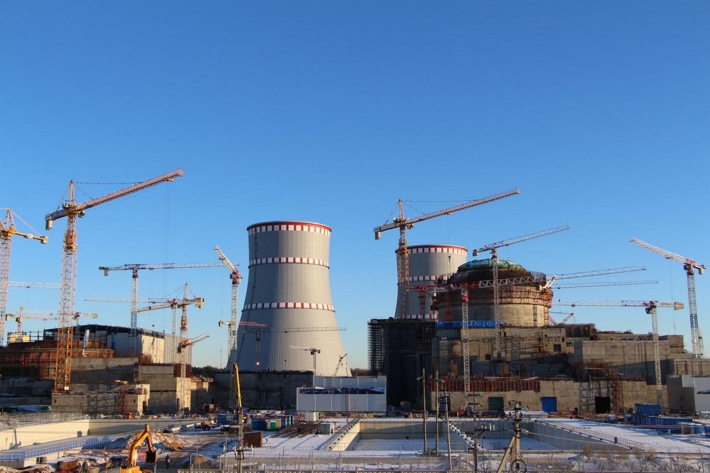 Výstavba nových bloků Leningradské jaderné elektrárny (zdroj Rosatom).