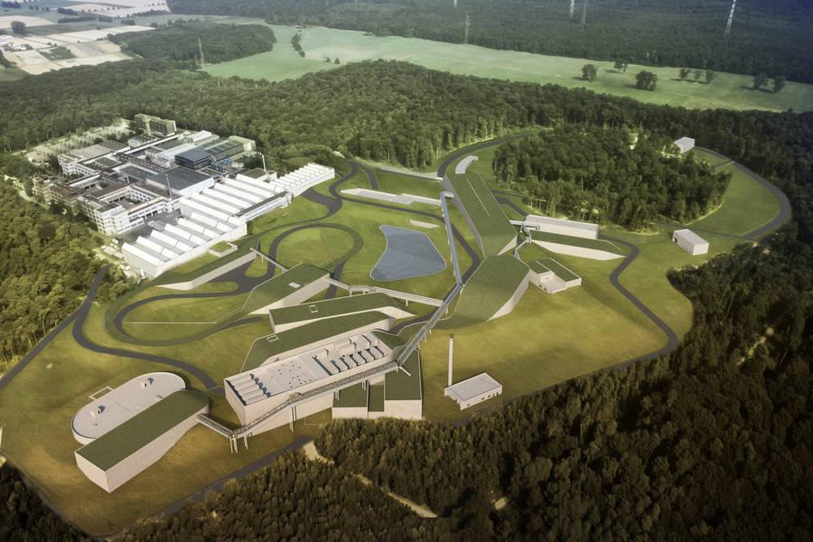 Vizualizace budované infrastruktury po dokončení (zdroj FAIR/GSI Darmstadt).