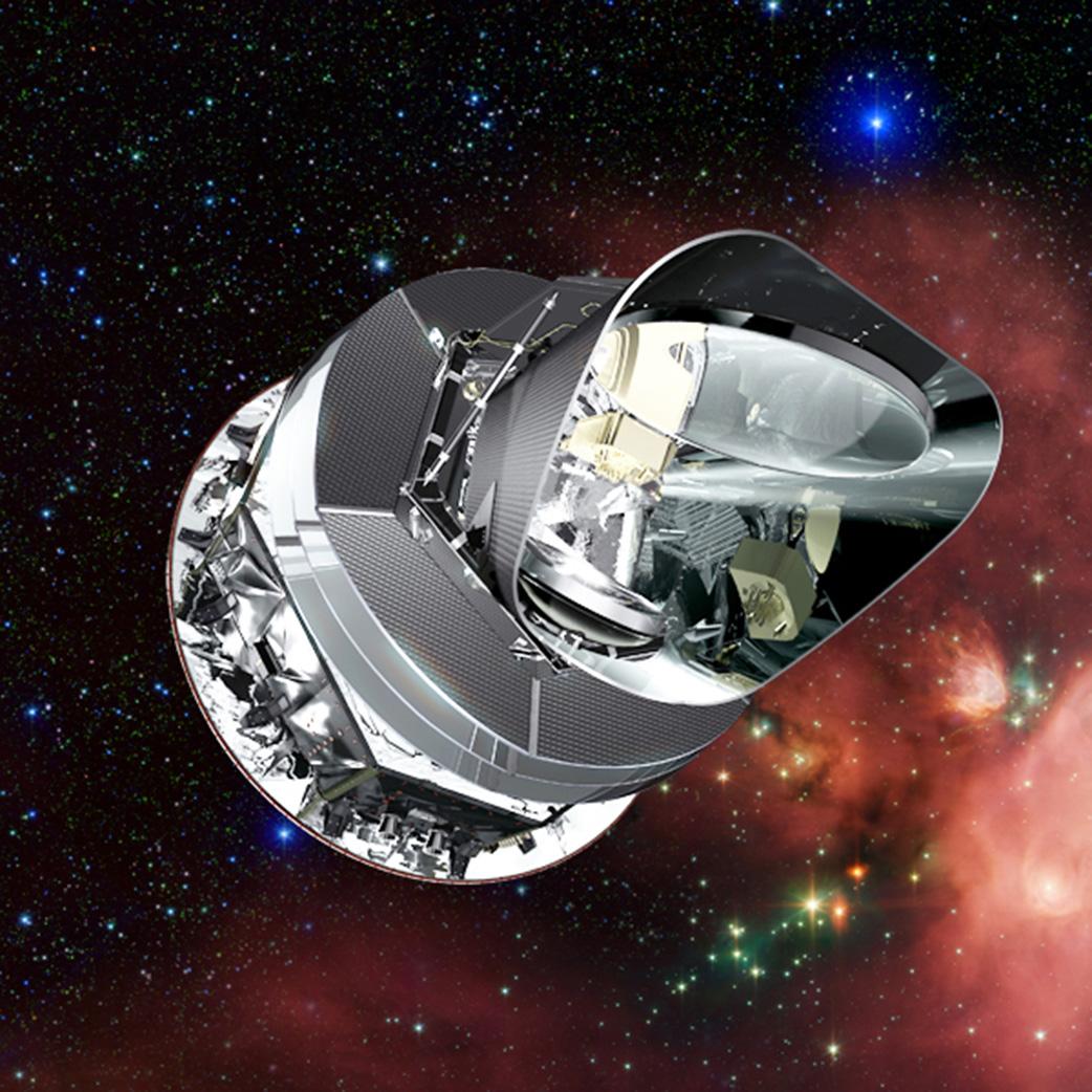 Vesmírná observatoř Planck. Kredit: ESA/NASA.