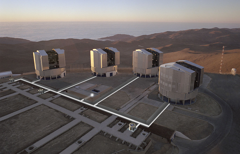 Very Large Telescope (VLT). Kredit: ESO.