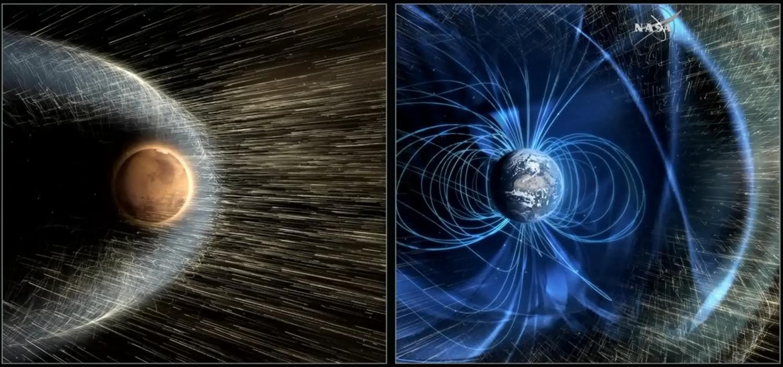Mars by mohl být podobnější Zemi, jako býval kdysi. Kredit: NASA.