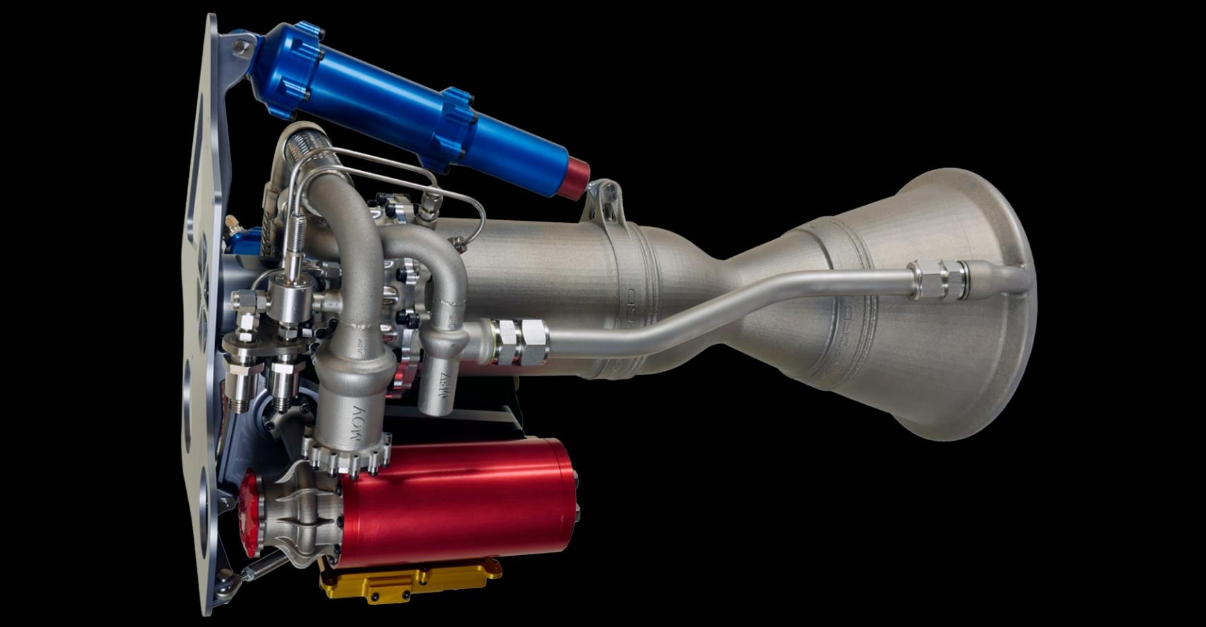 Raketový motor Rutherford. Kredit: Rocket Lab.