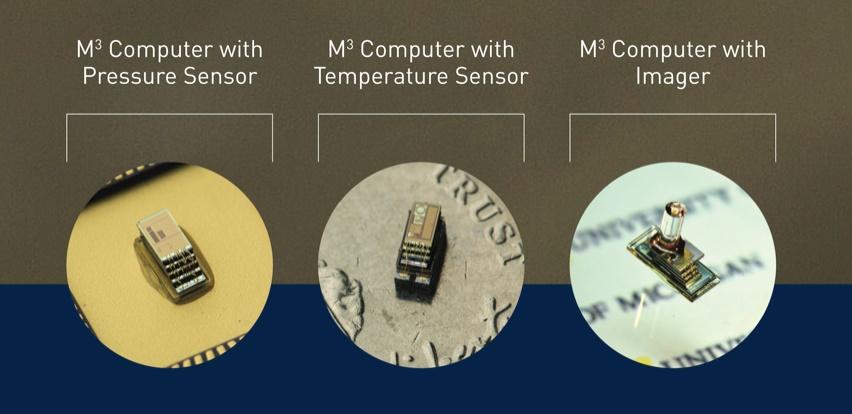 Varianty poÄŤĂtaÄŤe M3 s rĹŻznĂ˝mi senzory. Kredit: University of Michigan