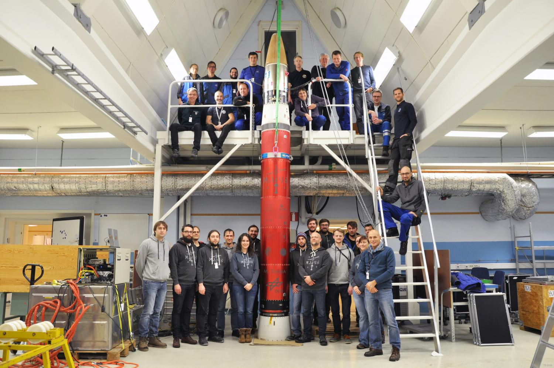 Tým experiment sraketou MAIUS-1. Kredit: German Aerospace Center.