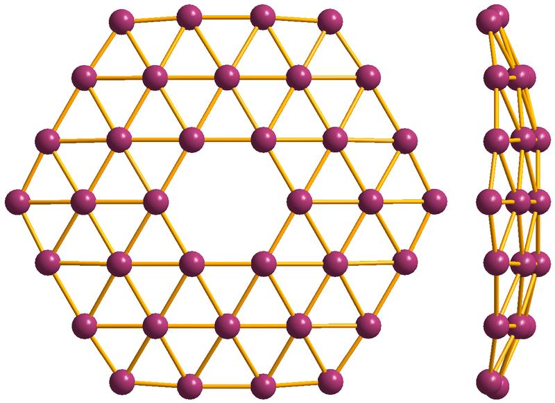 TeoretickĂ˝ borofen B36. Kredit: Materialscientist / Wikipedia Commons.