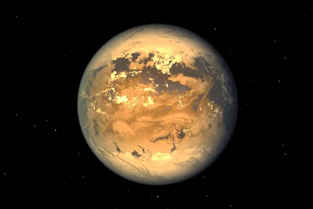 Chladný svět Kepler 186f. Kredit: NASA.