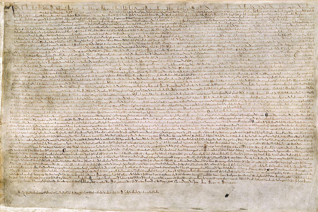 Magna Charta. Kredit: British Library / Wikimedia Commons.