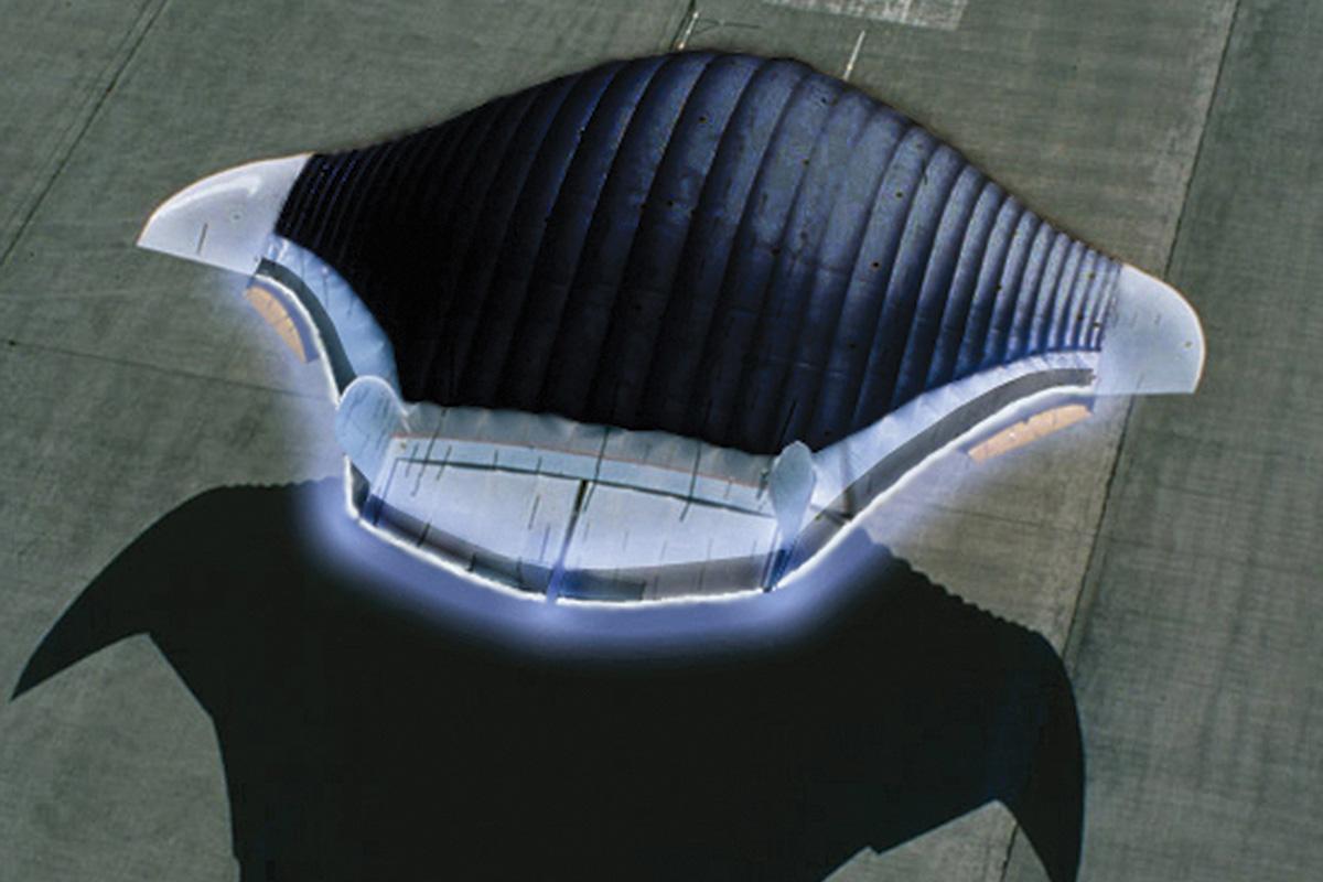 Vize letounu splazmovým tryskovým pohonem. Kredit: Future Workshop Electrofluidsystems TU Berlin.