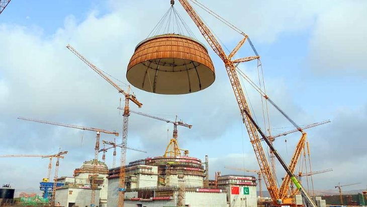 Reaktor Hualong One se buduje také v  pákistánské elektrárně Karáčí (zdroj CNNC).