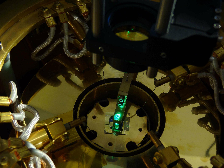 Experiment pro pozorování elektronové kapaliny. Kredit: QMO Lab, UC Riverside.