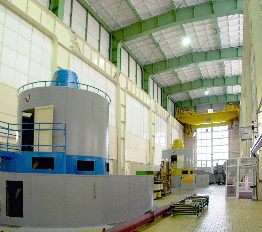 Uvnitř elektrárny Orlík (zdroj ČEZ).