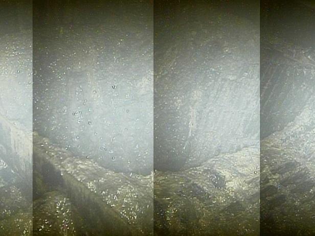 Zničená část roštové podlážky (zdroj TEPCO).