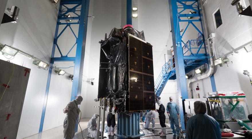 Testy připravovaných satelitů GPS třetí generace. Kredit. Lockheed Martin.