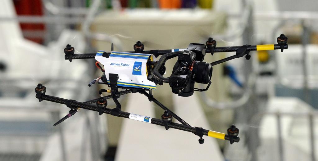 Dron britské společnosti James Fisher Nuclear využitý v Sellafieldu (zdroj James-fisher.com).