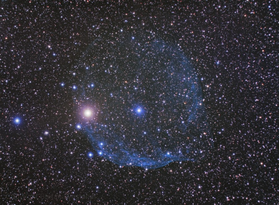 Řítíme se vesmír vHubbleově bublině? Kredit: Stefan Westphal.