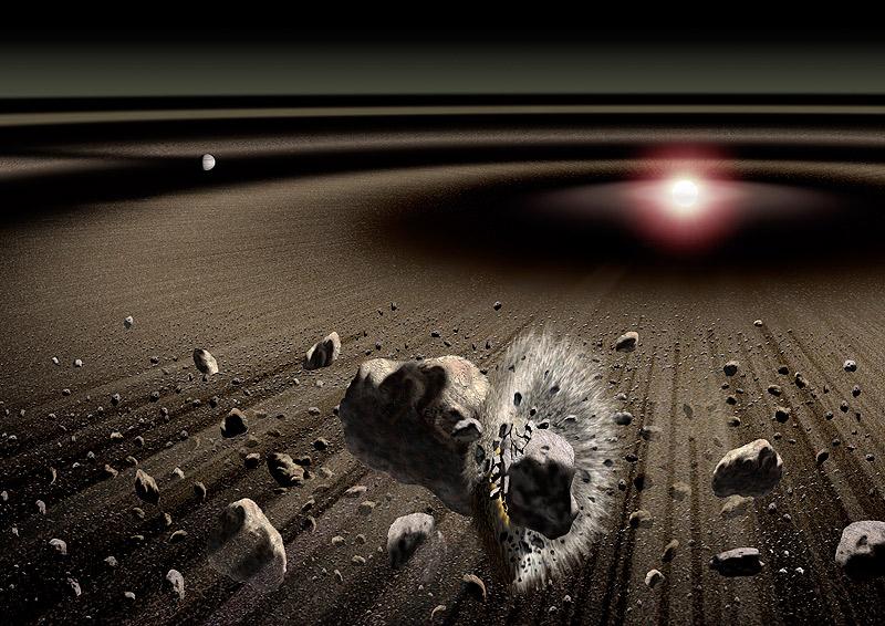 Jak divoké byly počátky Sluneční soustavy. Kredit: Kouji Kanba / JAXA.