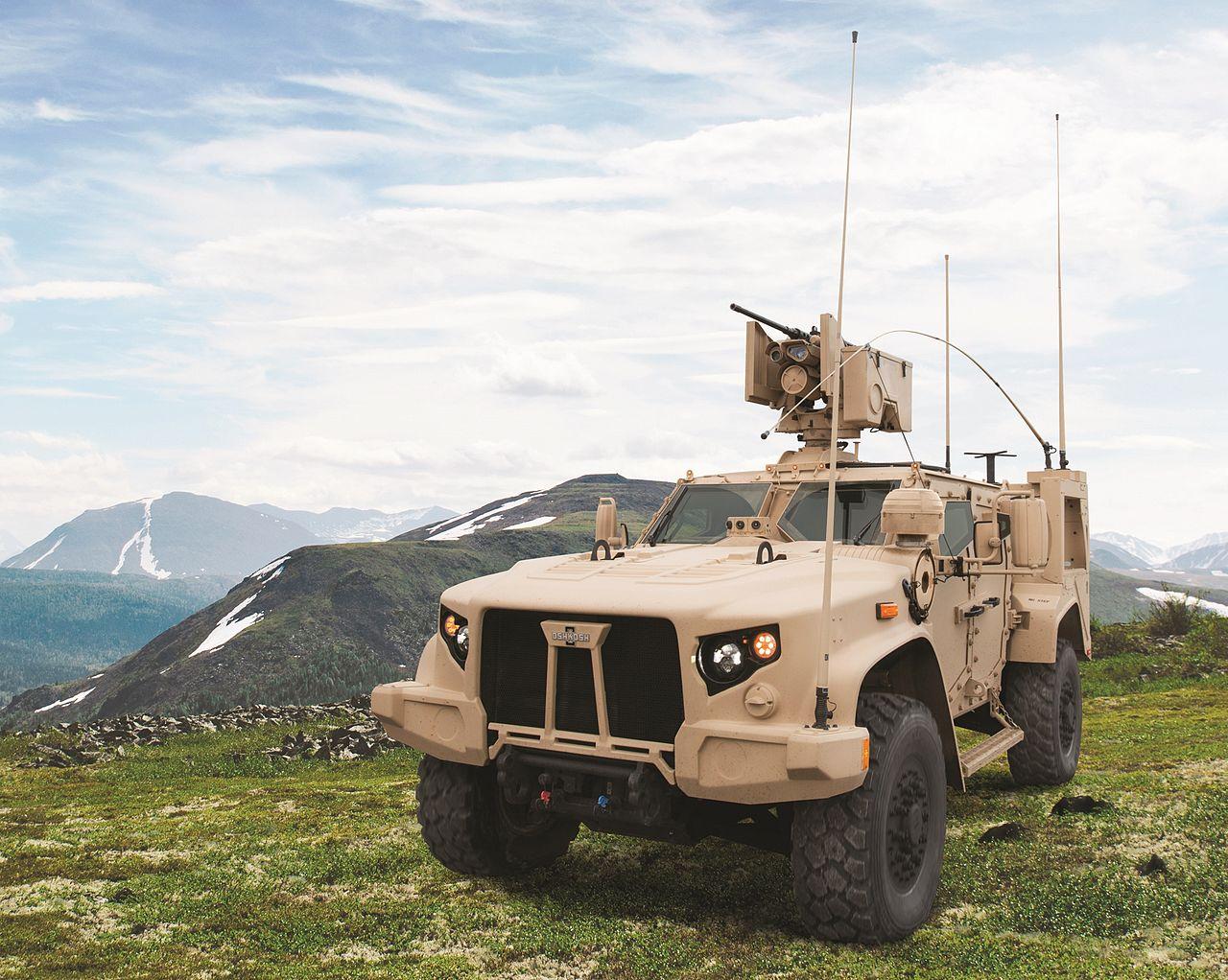 Vozidlo Oshkosh L-ATV, které bude jako JLTV nahrazovat Humvee. Kredit: Oshkosh Defense.