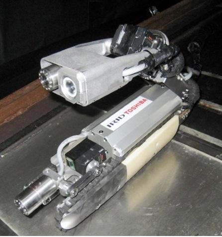 Robot, který by měl proniknout do kontejnmentu druhého bloku (zdroj Toshiba).