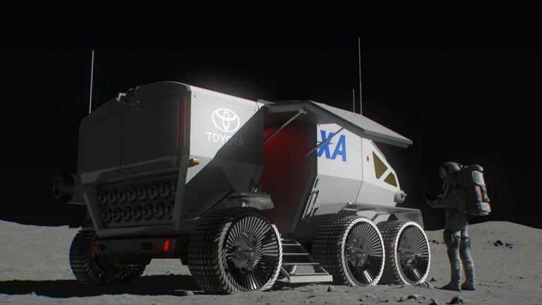 Společný projekt JAXA a Toyoty se bude snažit vyprojektovat vozidlo pro měsíční povrch (zdroj JAXA/Toyota).
