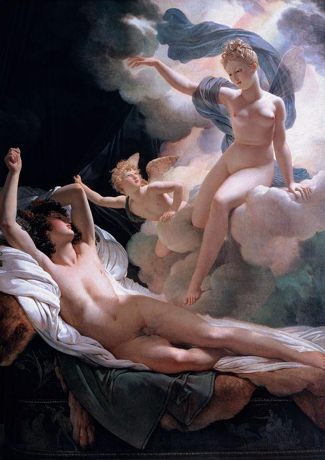 Iris ve společnosti Morfea. Kredit:  Guerin Pierre Narcisse (1811), Ermitáž, volné dílo.