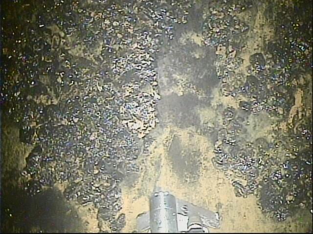 Průběh čištění přístupové rampy (zdroj TEPCO).