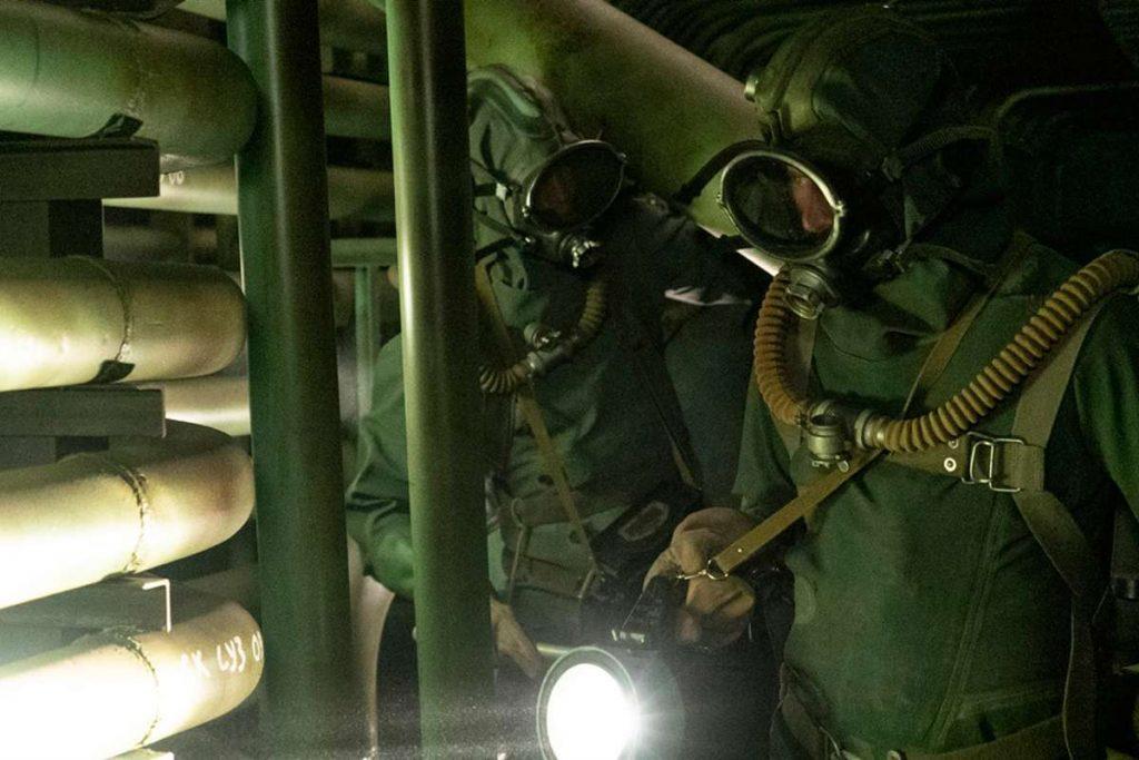 Zobrazení situace v suterénu pod reaktorem v seriálu (zdroj HBO).