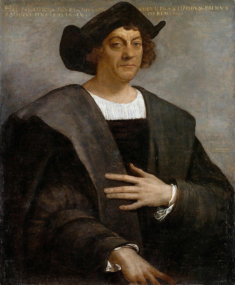 Portrét muže o němž se soudí, že to byl Kryštof Kolumbus. Nejspíš to byl on a jeho posádka, která po návratu z Nového světa obšťastnila Evropu nemocí syfilis.