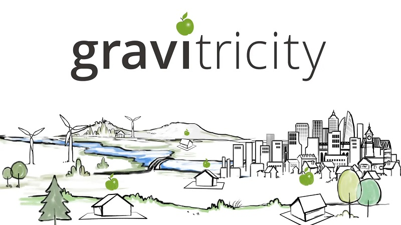 Gravitricity, logo.