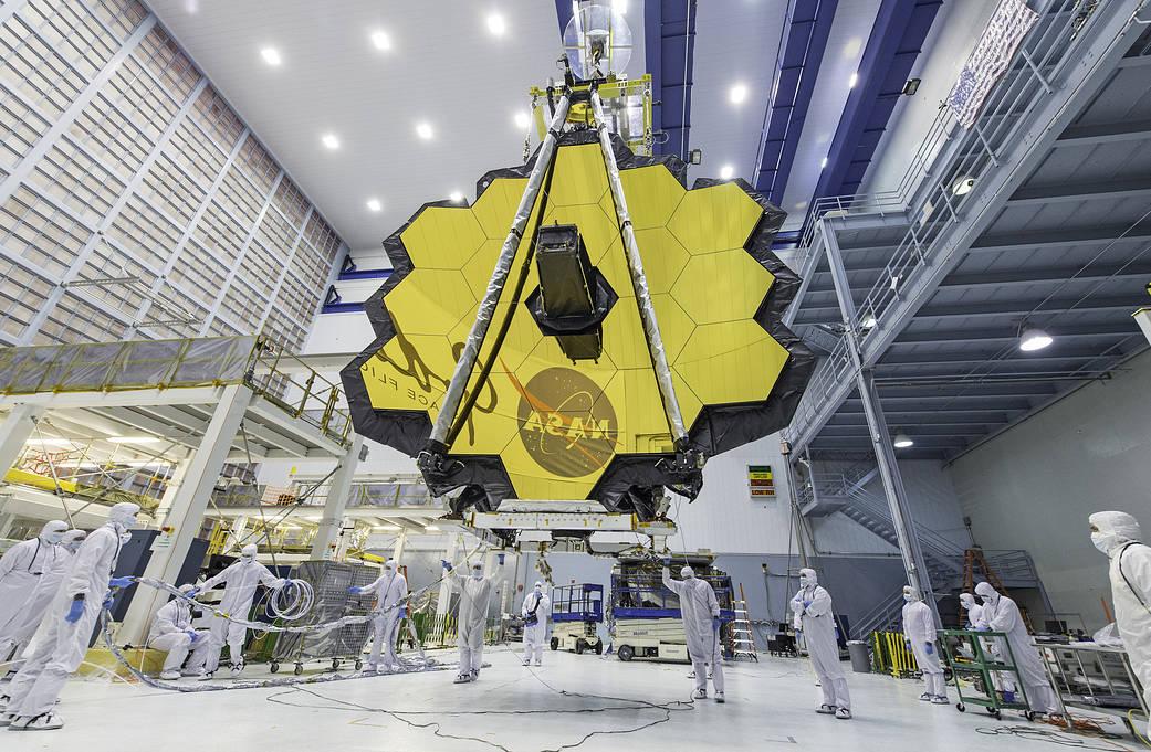 Dalekohled Jamese Webba by měl být vypuštěn v roce 2019 (zdroj NASA).