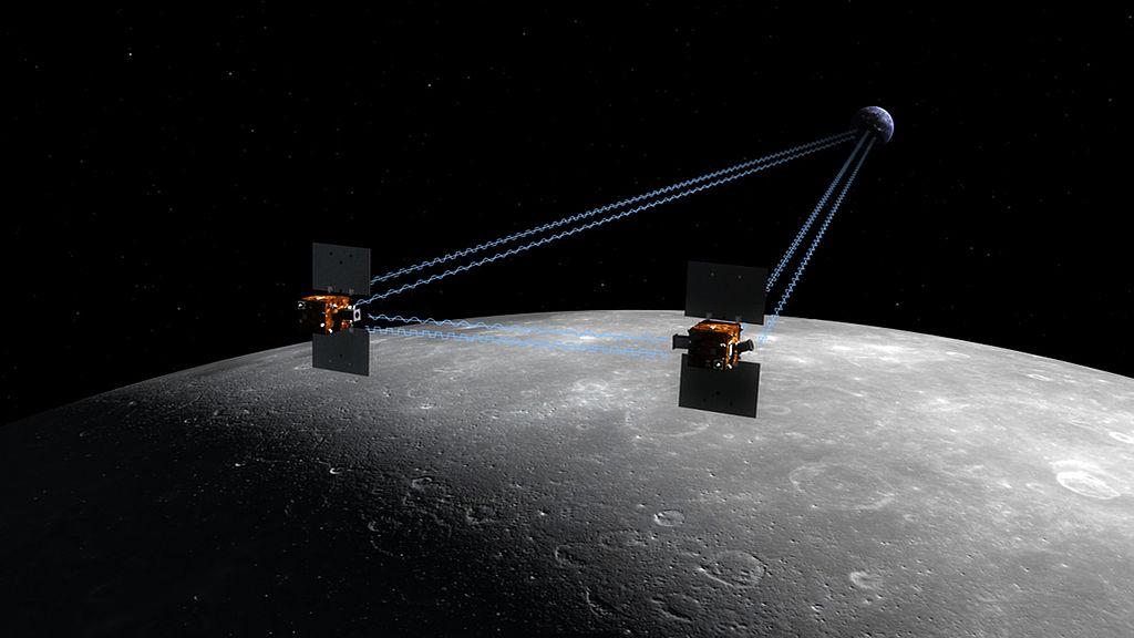 Tandem sond Grail v umělecké představě (zdroj NASA)