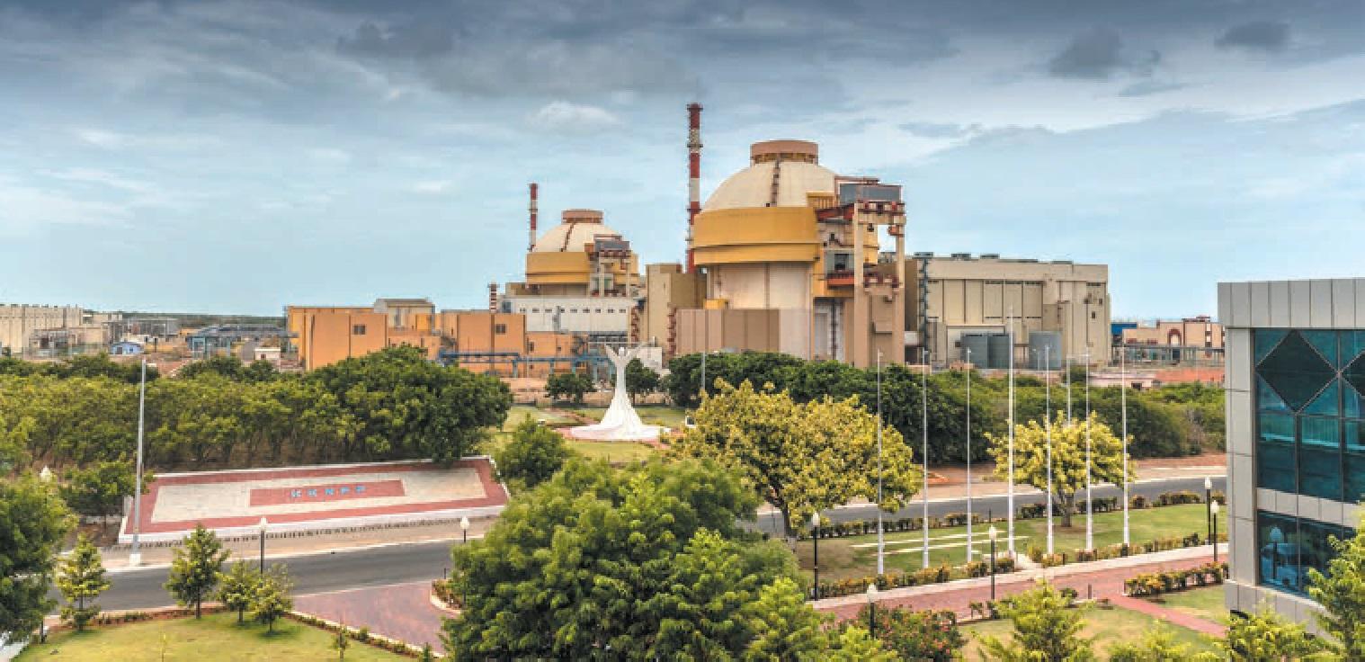 Pohled na první dva bloky elektrárny Kudankullam (zdroj Rosatom).