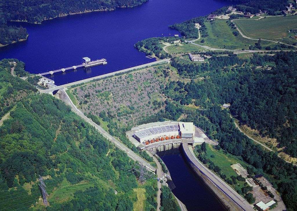 Přečerpávací elektrárna Dalešice (zdroj ČEZ).