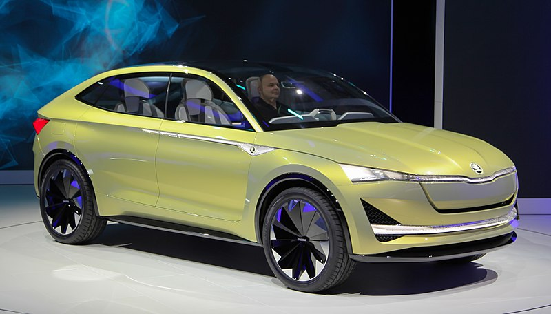 Škoda Vision E (2017) by měl být první elektromobil prodávaný firmou Škoda od roku 2020 (zdroj Wikipedie – Alexandr-93).