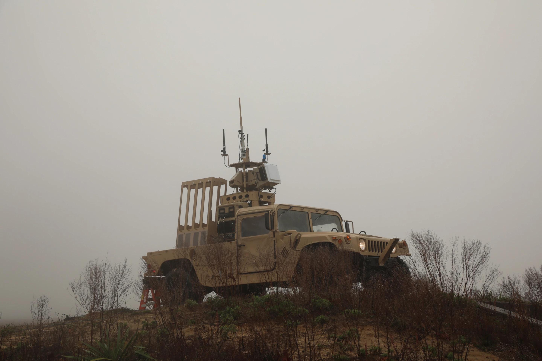 Systém Mobile Force Protection. Kredit: DARPA.