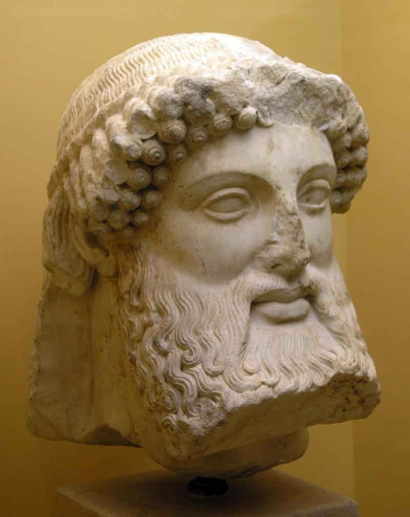 Hlava Herma z athénské Staré agory, 5. století před n. l., v Muzeu Staré Agory. Kredit: Marsyas, Wikipedia.