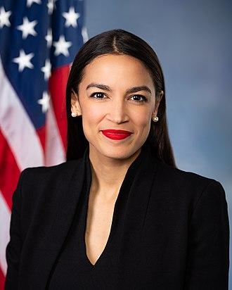 Alexandria Ocasio-Cortez, americká politička, členka Sněmovny reprezentantů.