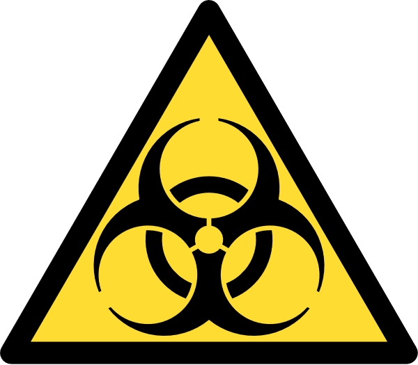 Biohazard. Kredit: Wikimedia Commons.