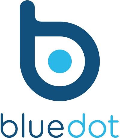 BlueDot, logo.