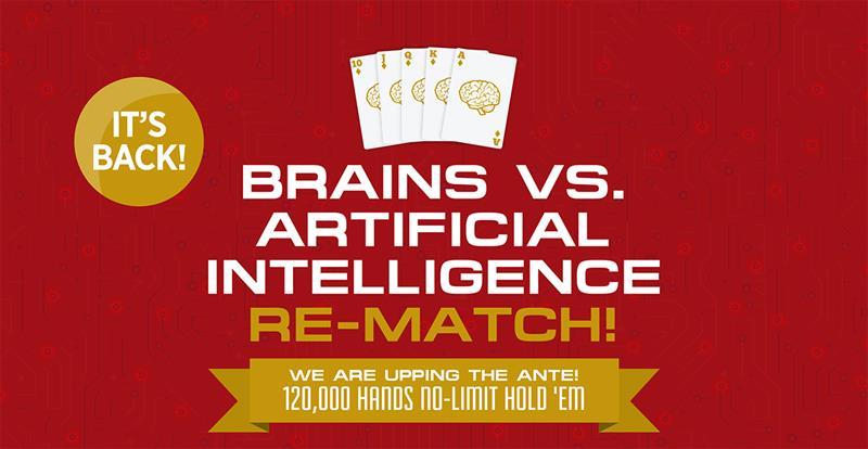 Soutěž v pokeru mezi počítačem Libratus a čtyřmi nejlepšími profesionálními hráči pokeru na světě: Jason Les, Dong Kim, Daniel McAulay a Jimmy Chou.